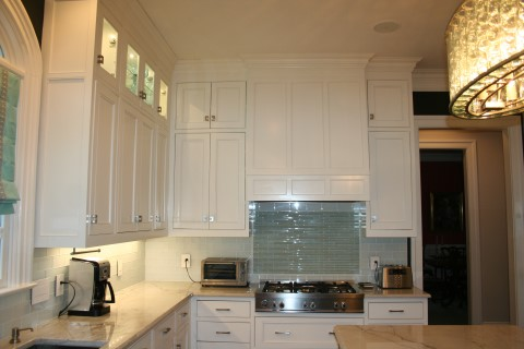 Tall upper cabinets