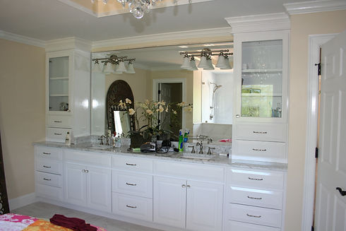 Double sink vanity in Chapel Hill