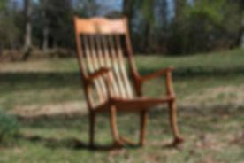Cherry rocking chair
