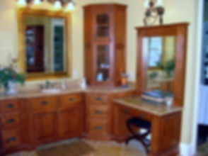 Single bowl vanity and make up table