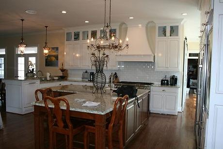 White rasied panel kitchen