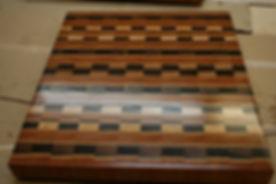 checker cutting board
