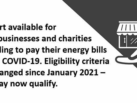 COVID-19 Energy Assistance Program - Small Business (CEAP-SB)