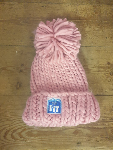 Pit Beanie (chunky knit - pink)
