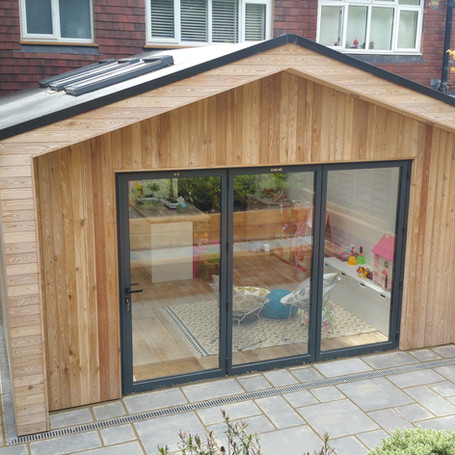 Timber frame kitchen extension in Cobham