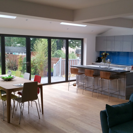 Single story rear kitchen extension in Worcester Park