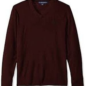 V Neck Sweater with Logo