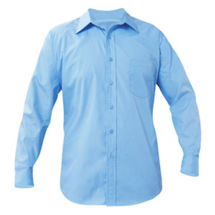 LS Blue Broadcloth Shirt