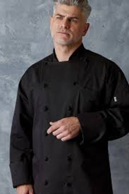 402 Long Sleeve Black Chef Coat