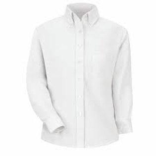 Girls White L/S Oxford Shirt (Grade 6-8)