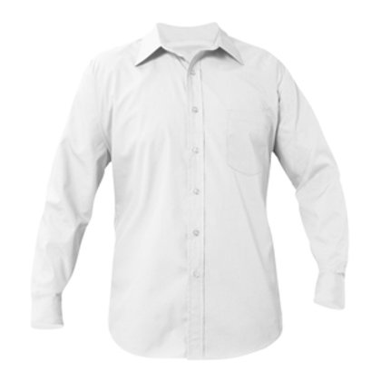 LS White Broadcloth Shirt