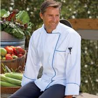 Murano Long Sleeve Piped Chef Coat