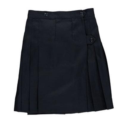 Navy Pleated Wrap Around Skirt