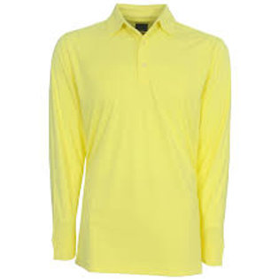 Yellow LS Polo with Logo