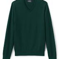 HC Green V Neck PO Sweater with Logo