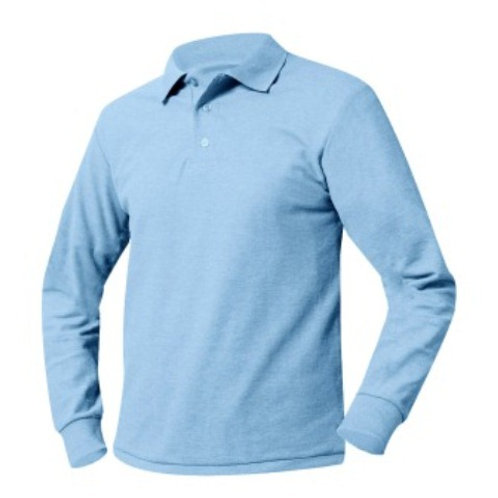 Long Sleeve Polo with Logo