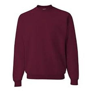 Burgundy Sweat Shirt with Logo