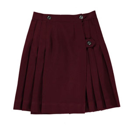 Maroon Wrap Around Skirt