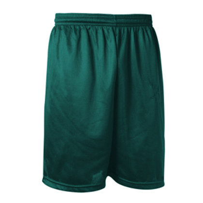 Green Mesh Shorts with Logo