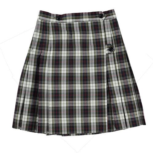 Navy & White Plaid Wrap Around Skirt
