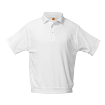 White SS Banded Polo (Girls 6-8)