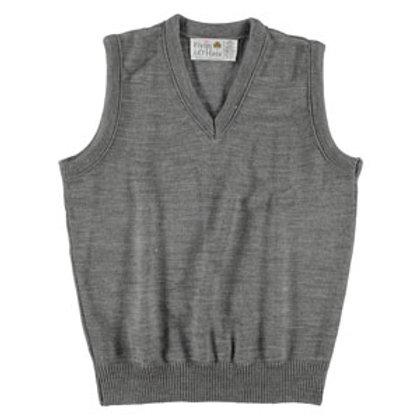 Grey Vest Sweater (Girls 6-8)