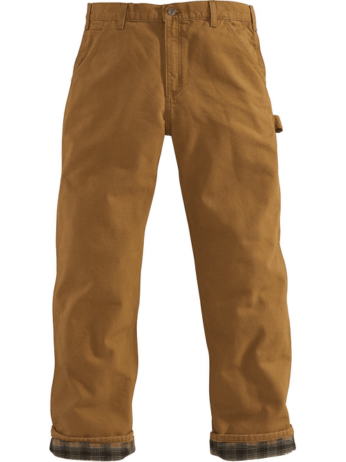Carhartt B111 Washed-Duck Work Dungaree / Flannel-Lined