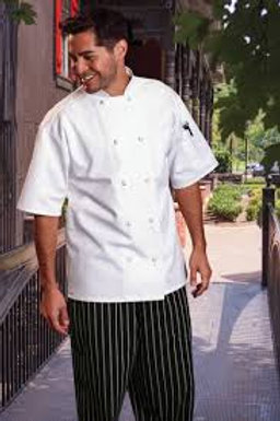 4015 Short Sleeve White Chef Coat