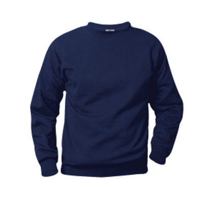 Navy Sweat Sweat Shirt with Logo (Gym