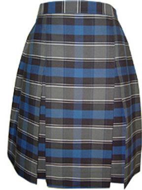Blue & Grey Plaid Skirt