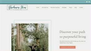 Inspiring website copy for life and business coach Barbara Ikin