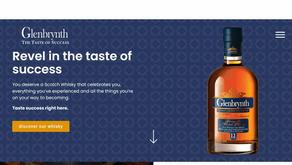 Bold website copy for vibrant whisky brand Glenbrynth