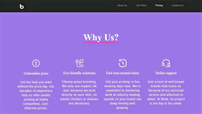 Sweet and simple website copy refresh for Blink Printing Solutions