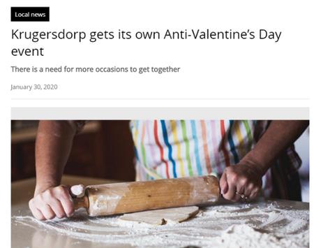 Press release to promote restaurant's Anti-Valentine's Dinner event