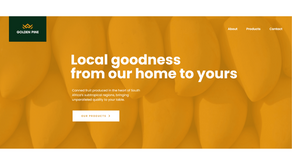 Sweet and simple website copy for Golden Pine canned fruit