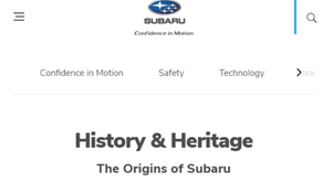 Proofreading the 20+ page Subaru South Africa website