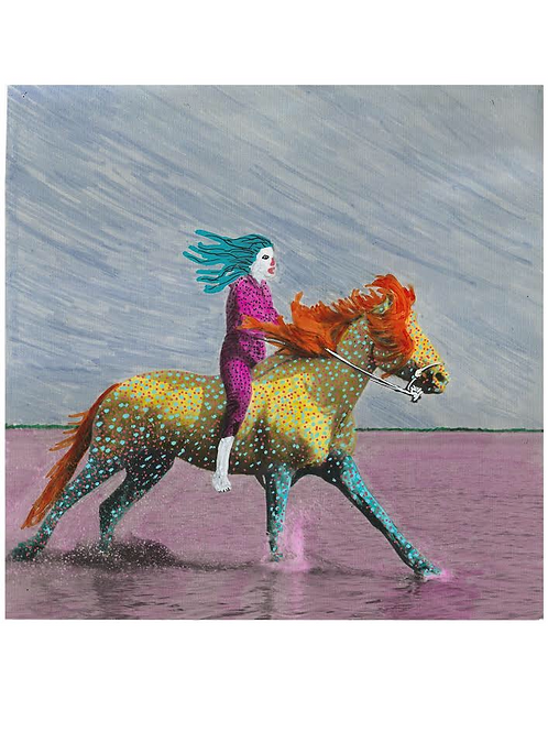 Boy On Horse.  A3 Giclee Archival Print.