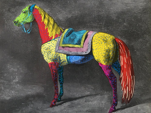 Horse.  8 x 6.9 inches.