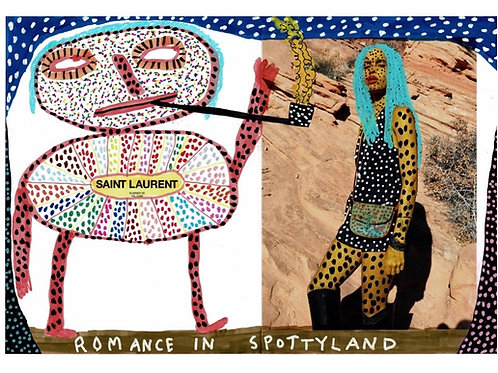 Romance In Spottyland.  A3 Giclee Print.