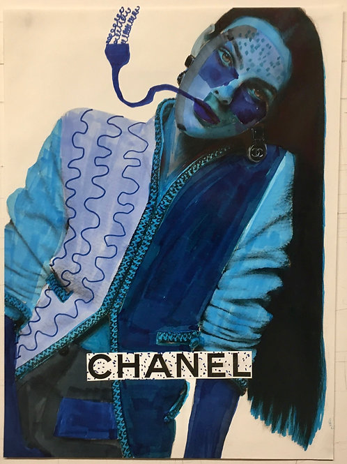 Chanel Advert. 11 x 8.25 inches.