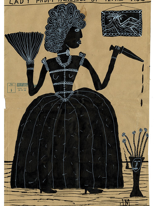 Lady Murderer.  A3 Giclee Print.