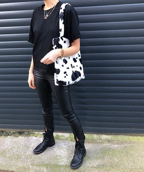 Cow Print Faur Fur Tote
