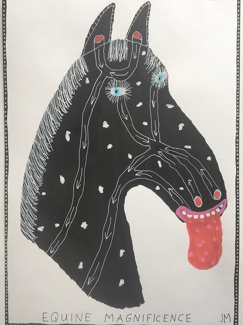 Equine Magnificence. 16.5 x 11.7 inches.