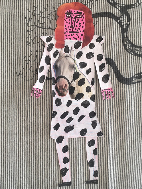 Horse Dress. 26 x 12 inches.