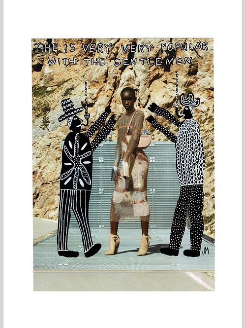 She Is Very Very Popular With The Gentlemen.  A3 Giclee Print.