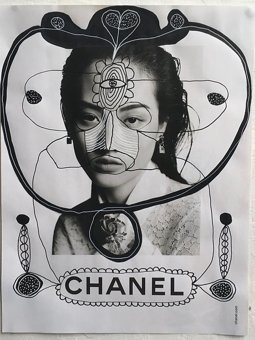 Chanel. 8.5 x 11.25 inches.