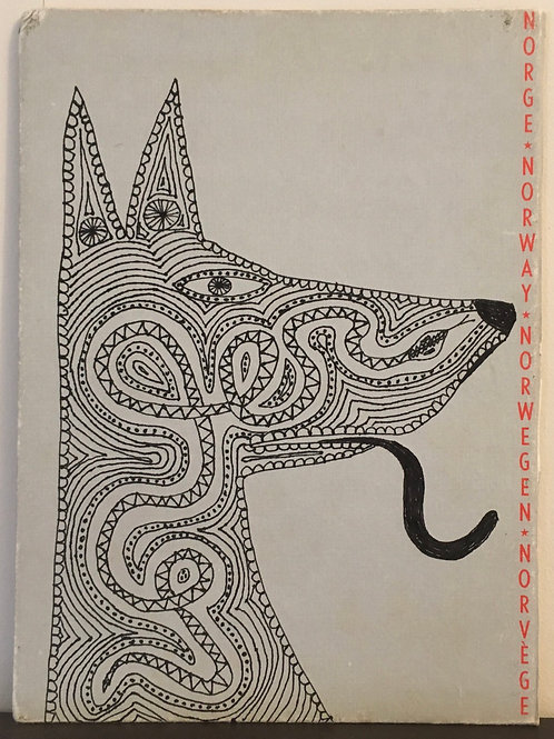 Dog And Snake. 10.5 x 7.8 inches.
