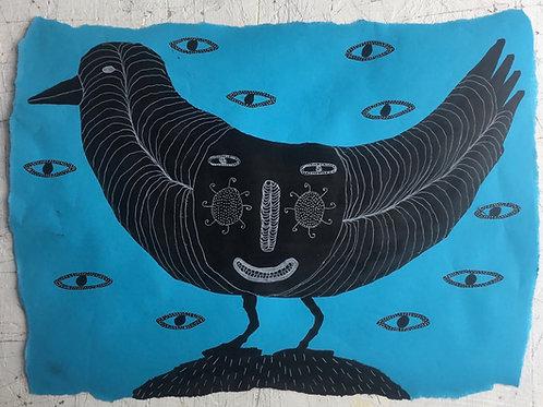 Bird. 16.75 x 12 inches.