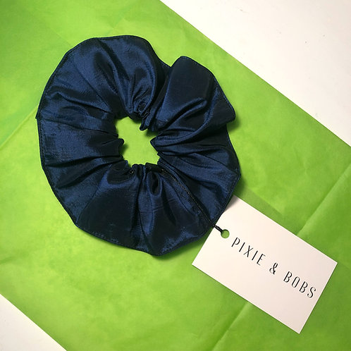 METALLIC BLUE SCRUNCHIE
