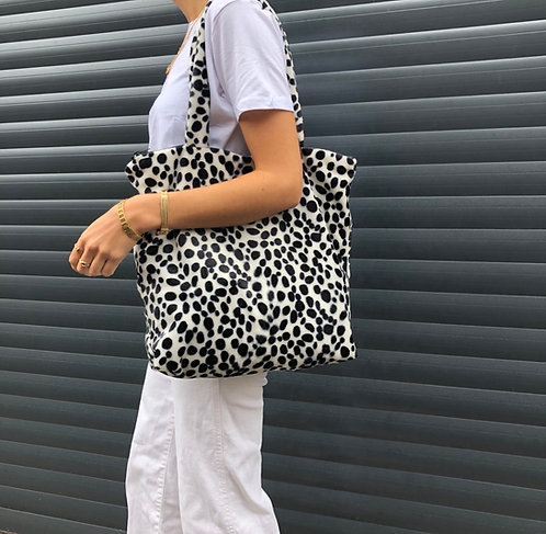 Dalmation fur tote bag